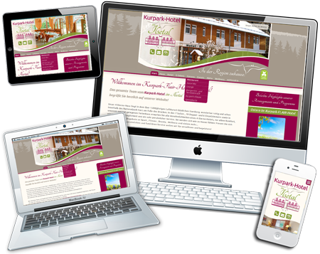 Website vom Kurpark-Flair-Hotel Ilsenburg