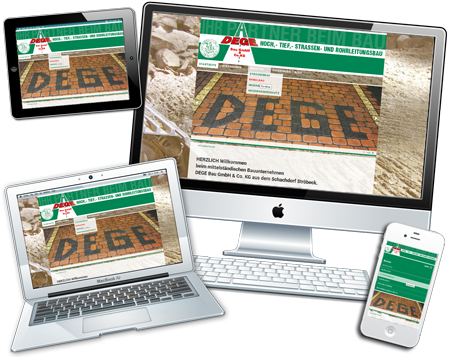 Website der Dege Bau GmbH & Co. KG